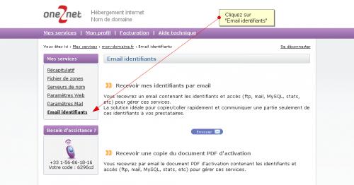 Recevoir ses identifiants par email