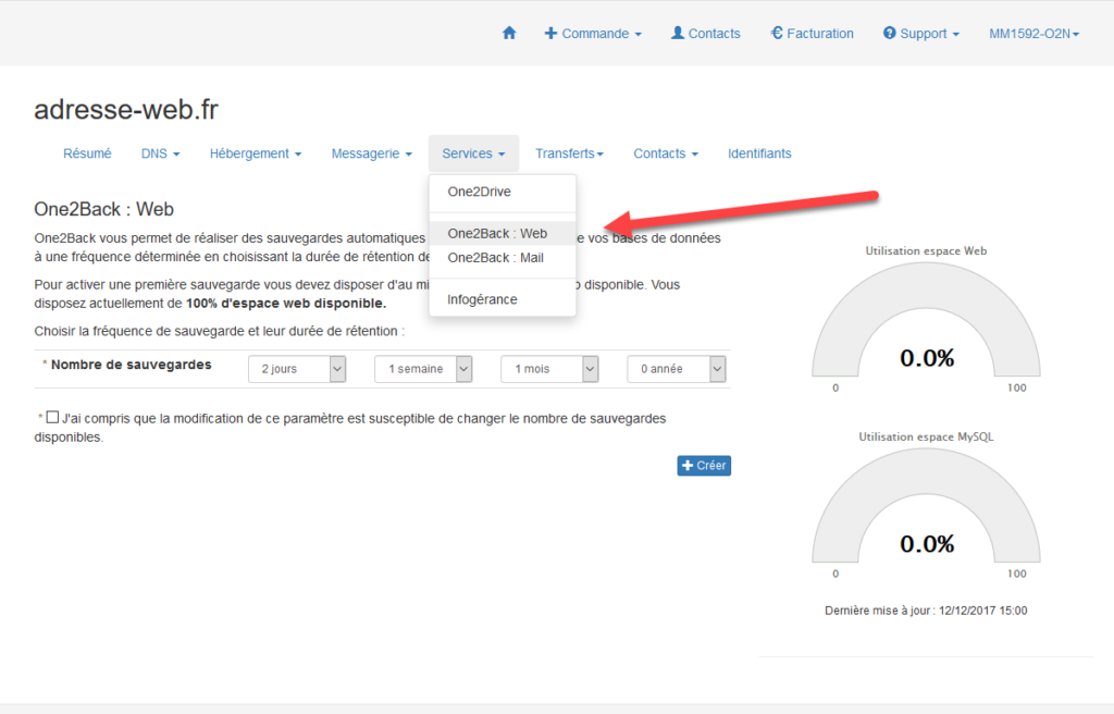 Sauvegardez vos données avec One2Back