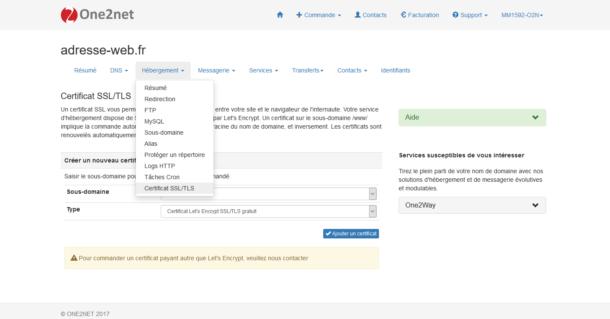 Activer votre certificat SSL
