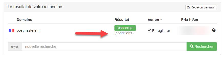 Enregistrer un nom de domaine FR soumis à examen préalable