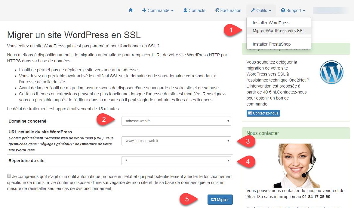 Migrer WordPress en SSL