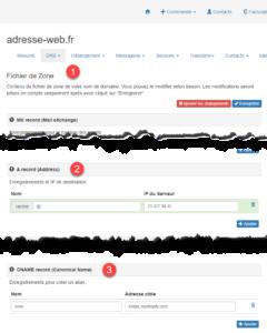 Paramétrage DNS Shopify