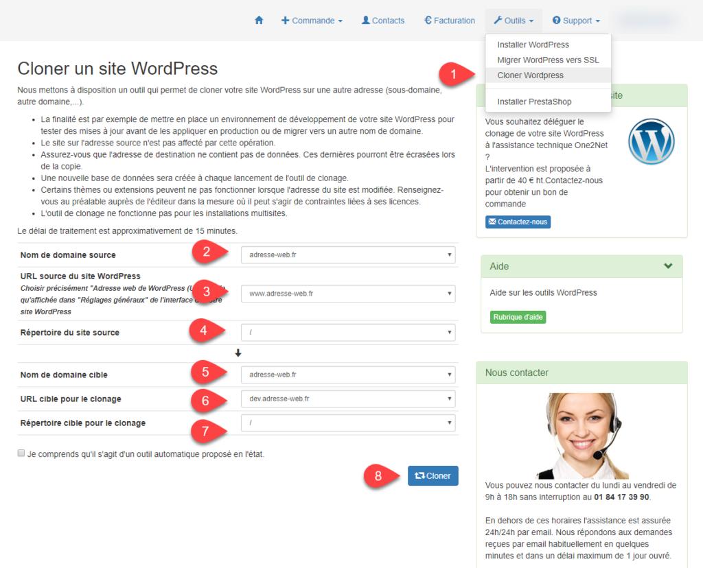 Dupliquer, cloner un site WordPress