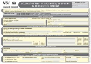 Formulaire cerfa 14943-01