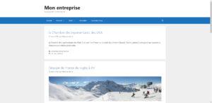 Page d'accueil WordPress en mode blog