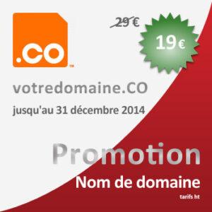 Achetez votre domaine .CO avant le 31 décembre 2014