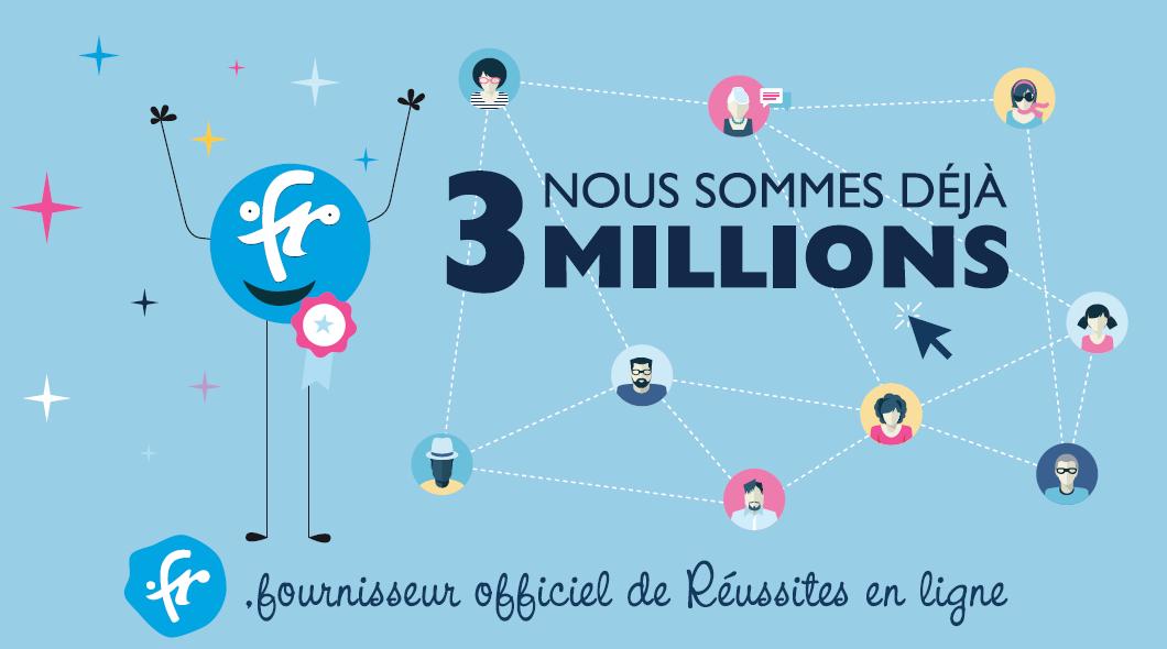 3 millions de noms de domaine .FR