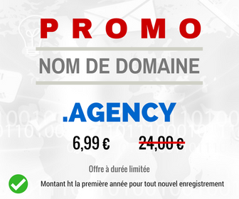 Promotion sur le nom de domaine .AGENCY
