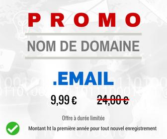 Promotion sur le nom de domaine .EMAIL