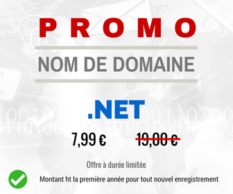 Offre spéciale sur l'enregistrement des noms de domaine .NET