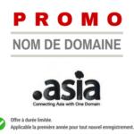 Promotion sur le nom de domaine .asia