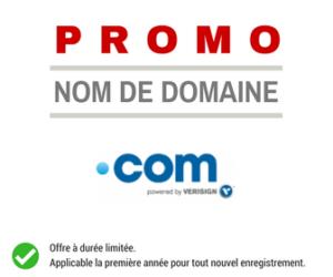 Promotion sur le nom de domaine .COM
