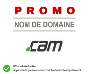 Promotion sur le nom de domaine .CAM