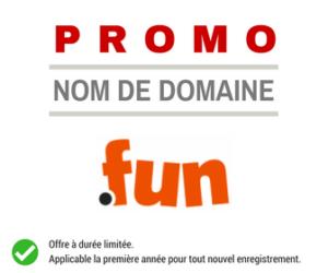 Promotion sur le nom de domaine .FUN