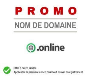 Promotion sur le nom de domaine .ONLINE
