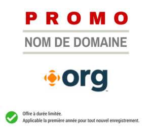 Promotion sur le nom de domaine .ORG