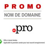 Promotion sur le nom de domaine .PRO