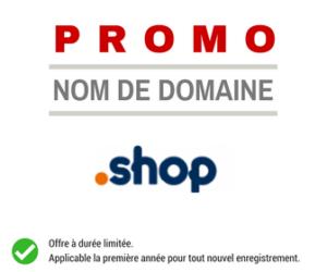 Promotion sur le nom de domaine .SHOP