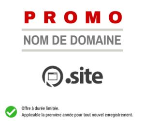 Promotion sur le nom de domaine .SITE