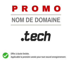 Promotion sur le nom de domaine .TECH