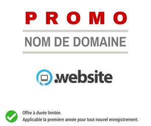 Promotion sur le nom de domaine .WEBSITE