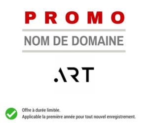 Promotion sur le nom de domaine .ART