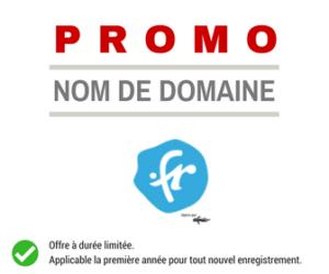 Promotion sur le nom de domaine .FR