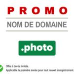 Promotion sur le nom de domaine PHOTO