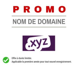 Promotion sur le nom de domaine XYZ