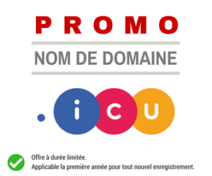 Promotion sur le nom de domaine .ICU