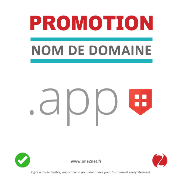 Promotion nom de domaine de APP
