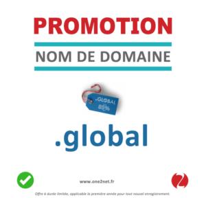 Promotion sur le nom de domaine .GLOBAL