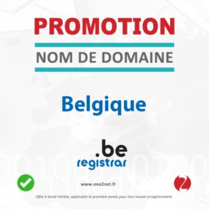 Promotion sur l'enregistrement de votre nom de domaine Belge