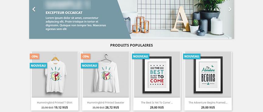 Votre boutique avec PrestaShop