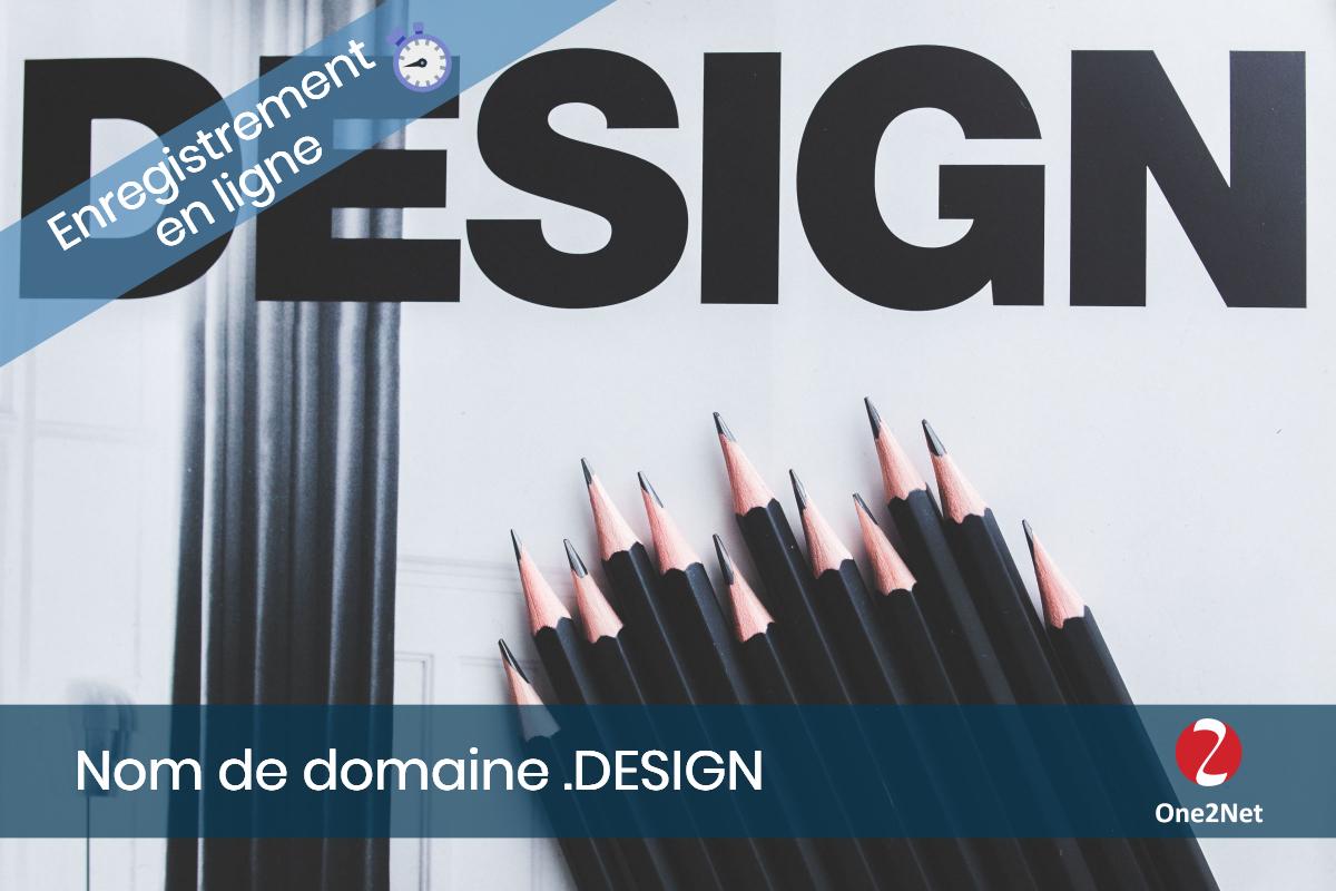 Nom de domaine .DESIGN - One2Net
