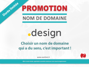 Promotion sur l'enregistrement de votre nom de domaine Design