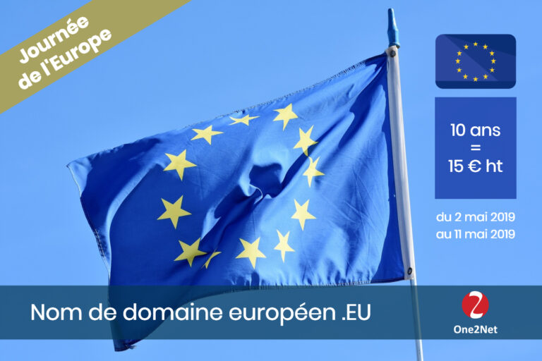 Promotion nom de domaine Europe