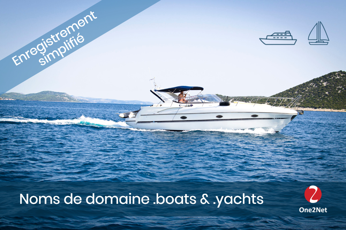 Nom de domaine .BOATS - One2Net