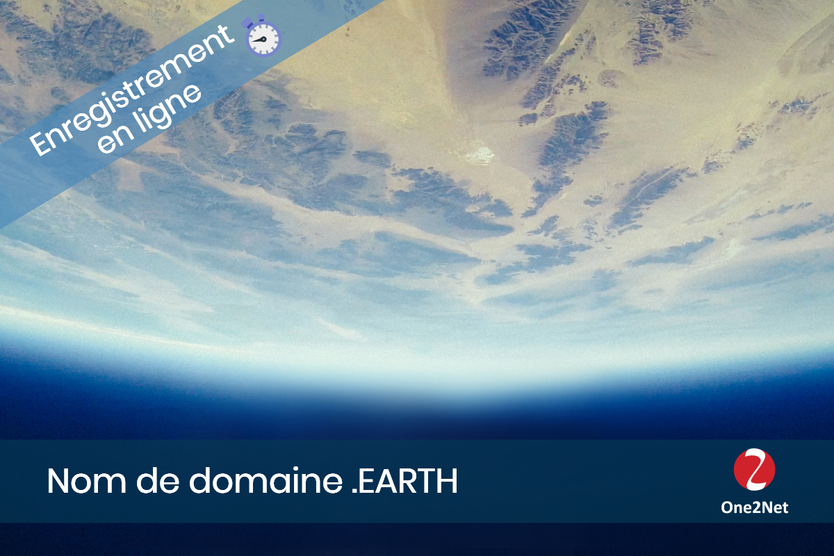 Nom de domaine .EARTH - One2Net