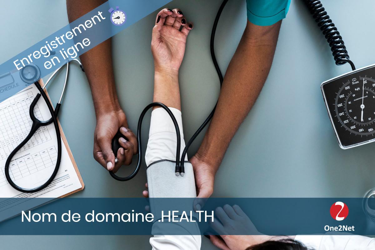 Nom de domaine .HEALTH (santé) - One2Net