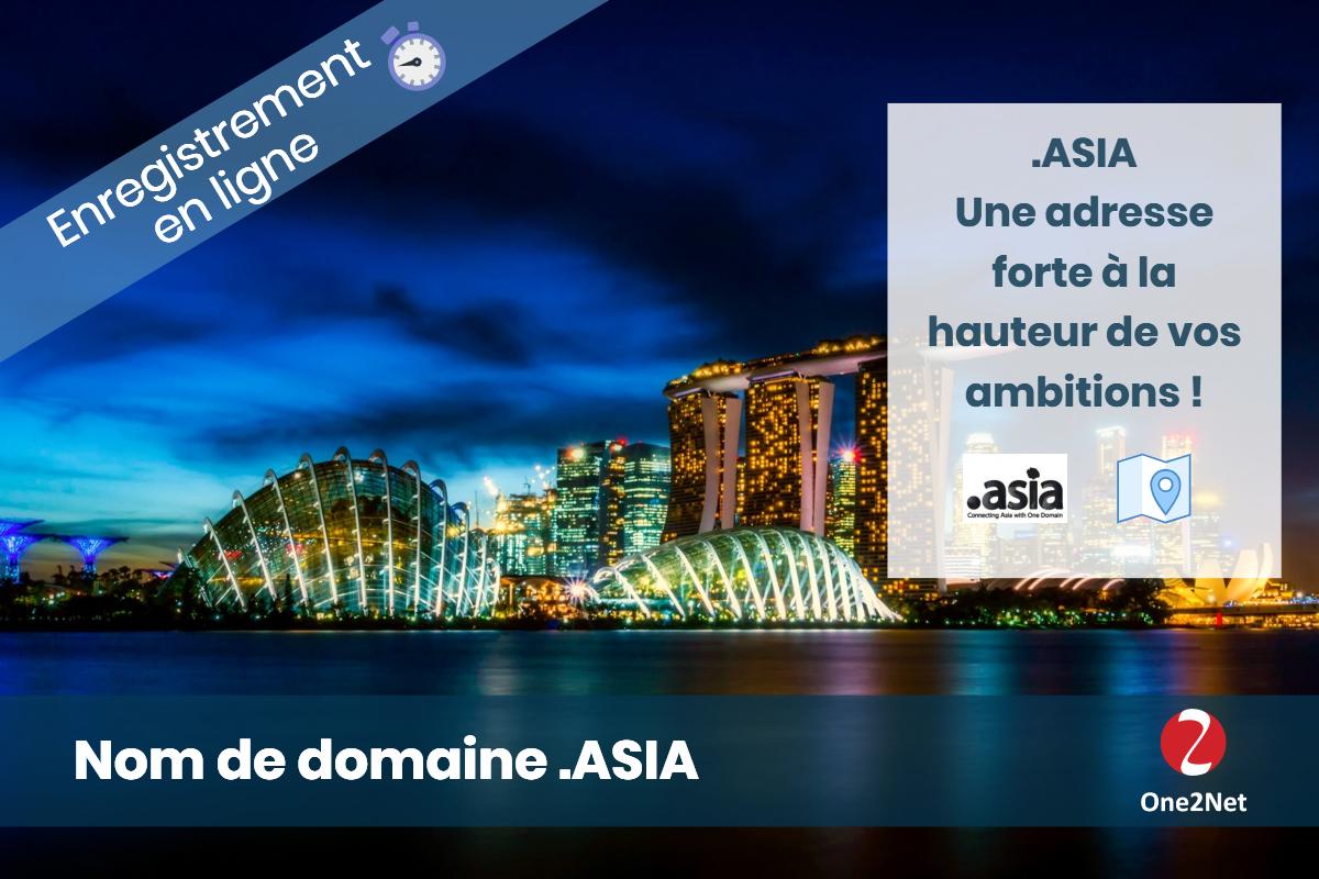 Nom de domaine .ASIA (zone Asie) - One2Net