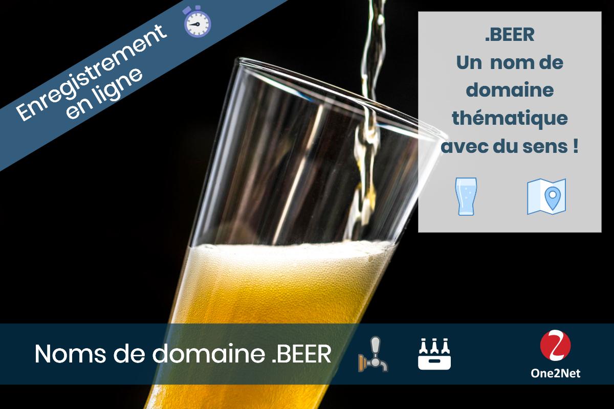 Nom de domaine .BEER (bière) - One2Net