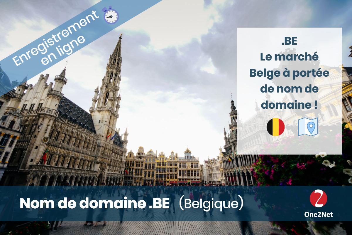 Nom de domaine .BE (Royaume de Belgique) - One2Net