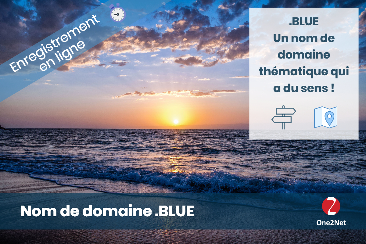 Nom de domaine .BLUE - One2Net