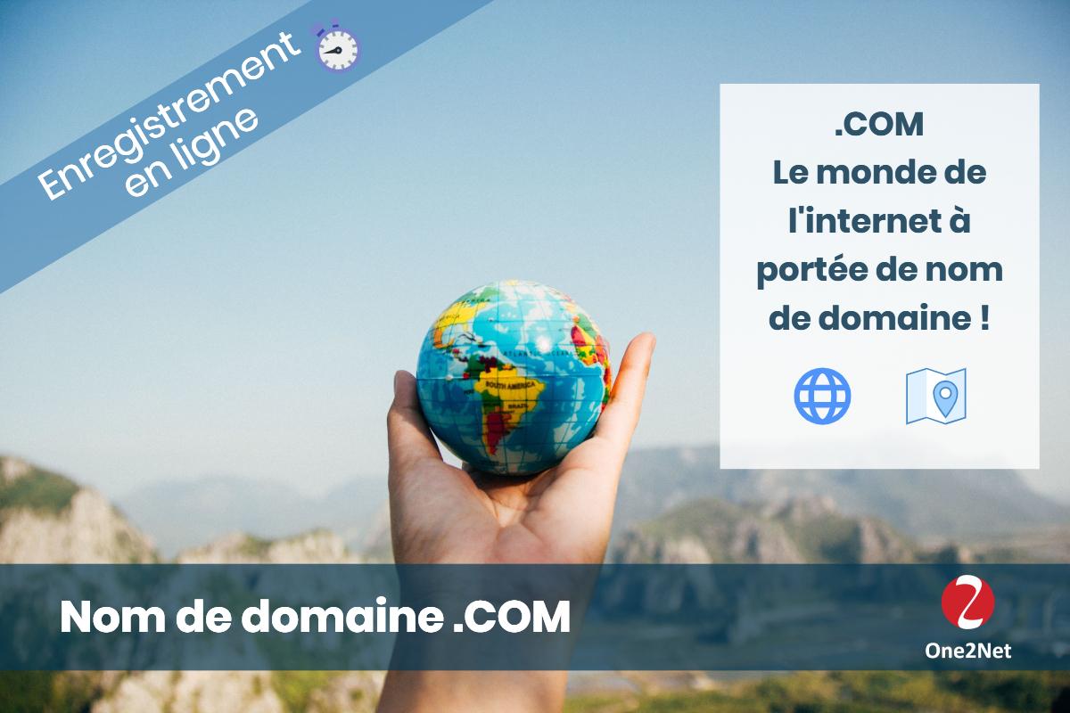 Nom de domaine .COM - One2Net