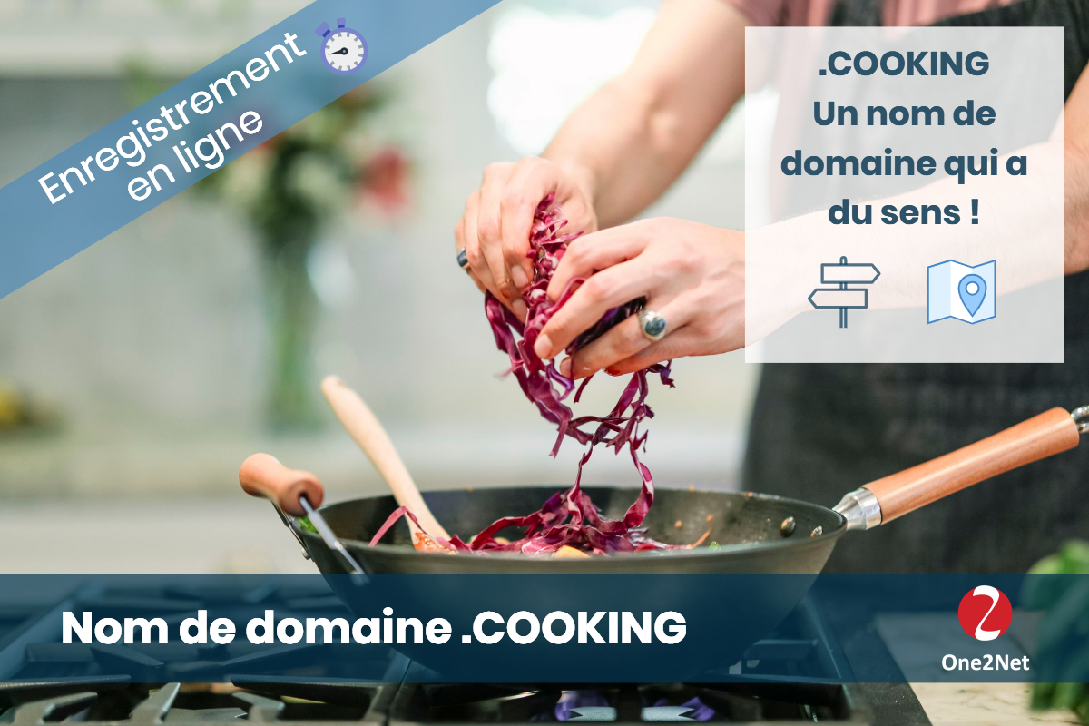 Nom de domaine .COOKING - One2Net
