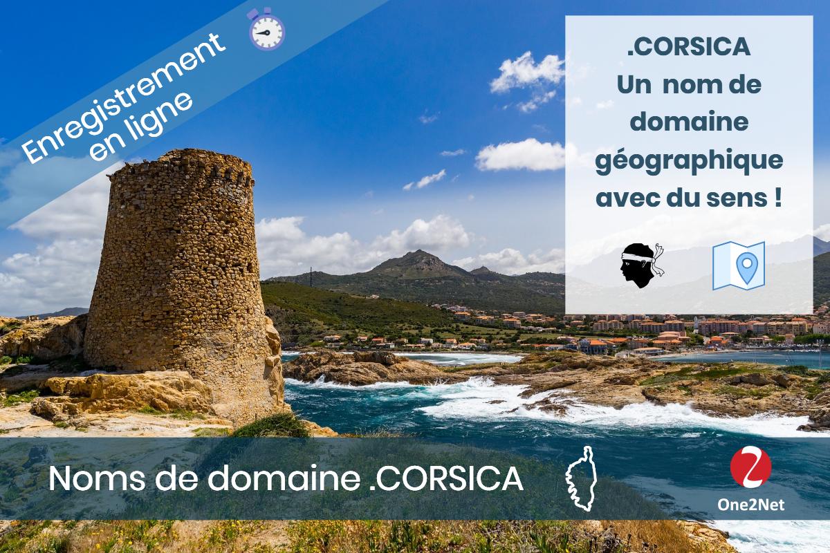 Nom de domaine .CORSICA (puntu Corsica) - One2Net