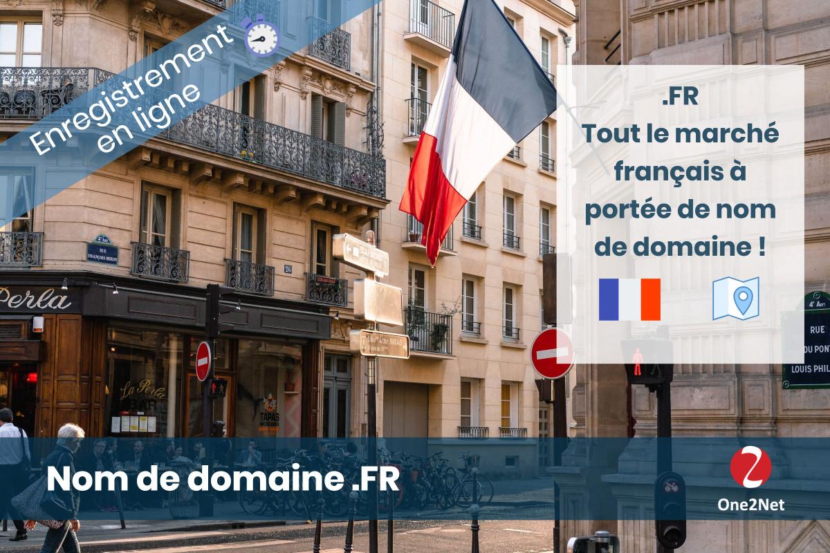 Acheter un nom de domaine FR (France) - One2Net