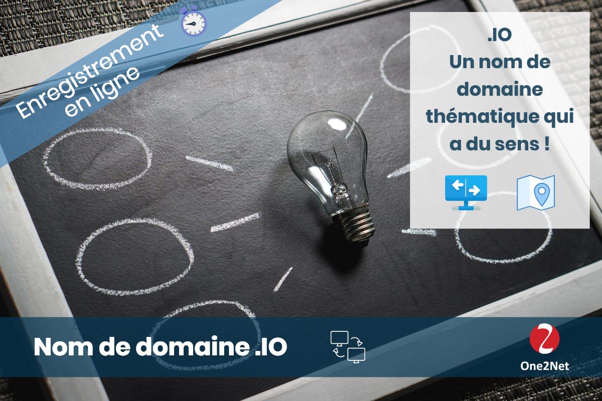 Nom de domaine .IO - One2Net