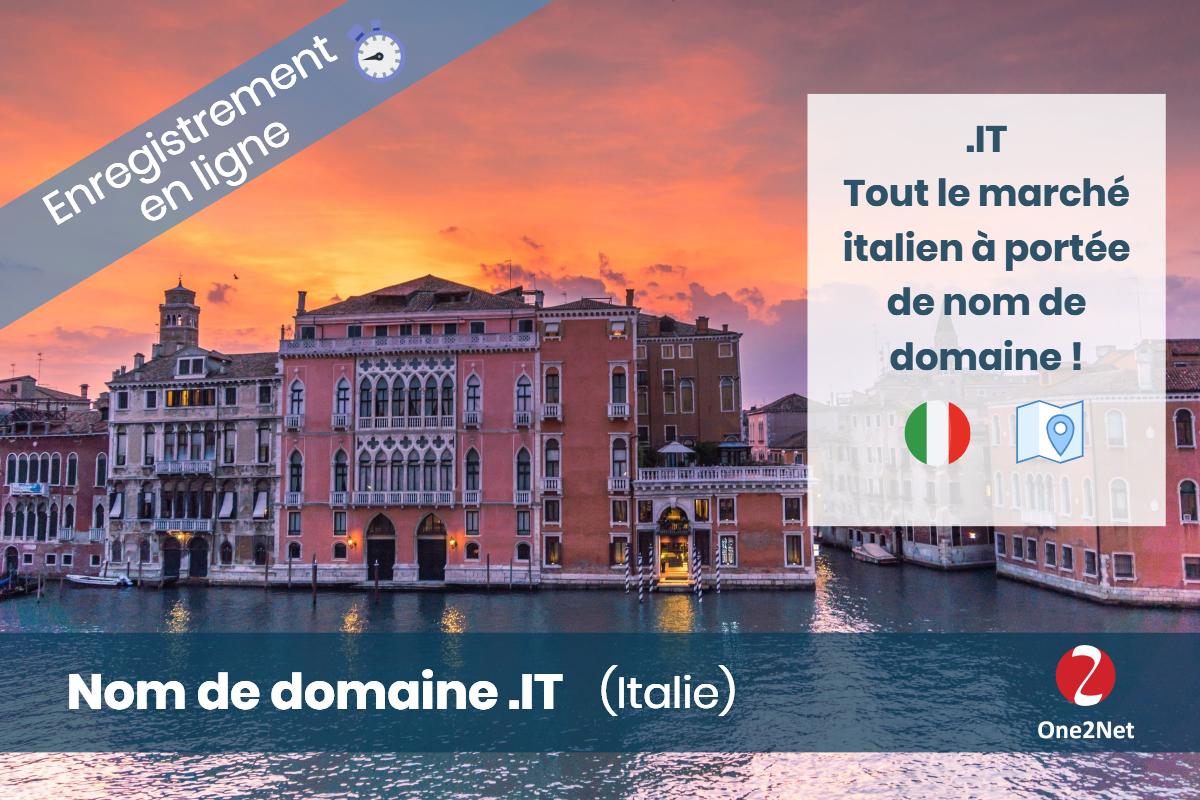 Achat de nom de domaine .IT (Italie) - One2Net